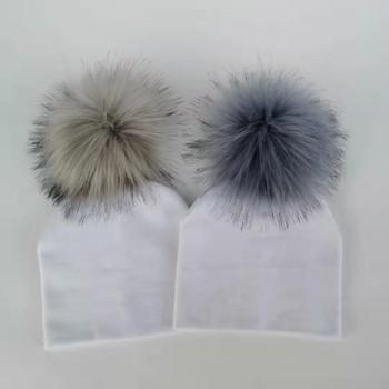 Kids Cotton Hats Baby Pom Pom Photo Props Newborn Children's Boy Accessories Toddler Girl Cap Bonnet  Baby Hats 4