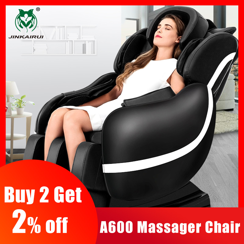 JinKaiRui Electric Health Care Massasjestol Zero Gravity Multifunksjonell 3D Full Body Device Relaxation Muscle Massagem Sofa