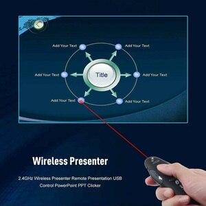Image 4 - 2.4 2.4ghz の Usb ワイヤレスプレゼンター Pc 赤色レーザーペンポインター Ppt リモコンとハンドヘルドポインタープレゼンテーションのための