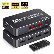 HDMI Splitter 4K HDMI Switch 3x1 2.0 UHD RGB4:4:4 HDCP 2.2 HDR 5 In 1 Out For Smart Tv Mi Box3 Ps4pro Xbox One X/s Projector unnlink hdmi switch 3x1 5x1 hdmi 2 0 uhd 4k 60hz 4 4 4 hdcp 2 2 hdr for smart led tv mi box3 ps3 ps4 pro projector