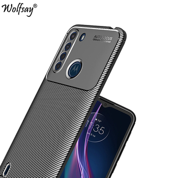 For Motorola One Fusion Case Bumper Silicone Carbon Fiber Shockproof Cover For Moto One Fusion Case For Motorola One Fusion 6.5 for motorola one fusion plus case shockproof armor rubber hard pc case for moto one fusion plus cover for moto one fusion plus