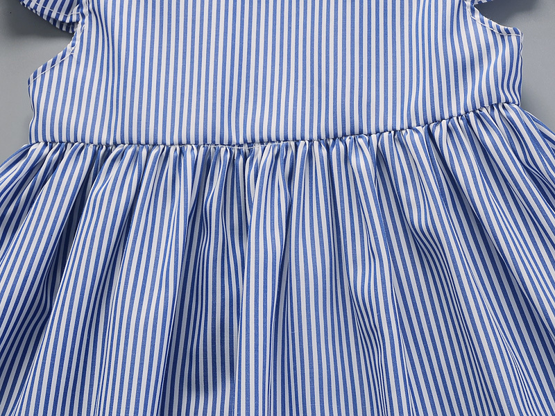 H475ed90060d74c9a965af260be0ffcddN Hot 2018 New Summer Dress Toddler Kids Baby Girls Lovely Birthday Clothes Blue Striped Off-shoulder Ruffles Party Gown Dresses