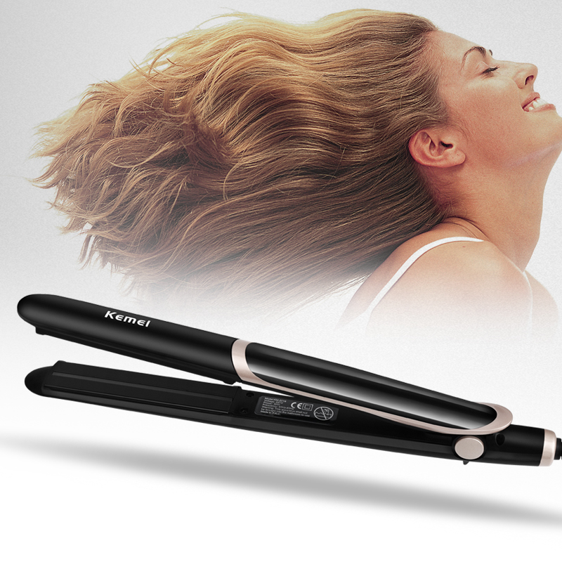 Special Hair Straightener Electric Hair Curler Flat Iron Negative Ion Hair Straighting Curling Iron With LED Display 40D