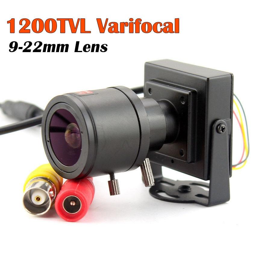 1200tvl Varifocal Lens Mini Camera 9-22mm Adjustable Lens CCTV Security Surveillance Camera Car Overtaking Camera