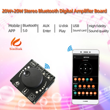 AP15H Bluetooth 5.0 20W+20W Power Digital Amplifier Stereo Board AMP Amplificador Home Theater 12V 24V 3.5mm AUX USB