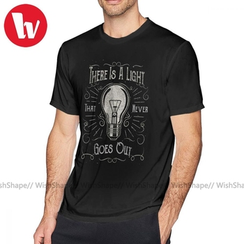 цена на The Smiths T Shirt There Is A Light That Never Goes Out Black Only T-Shirt Summer Mens Tee Shirt 5x Short Sleeve Tshirt