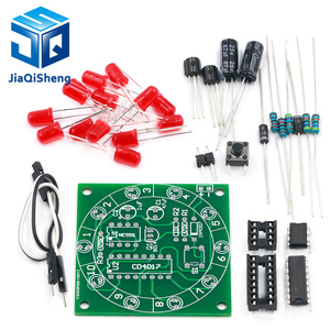 Lucky Rotary Suite Electronic Suite Turntable CD4017 NE555 Self LED Light Kits Production Parts Module 3V 5V Pulse Generator DIY