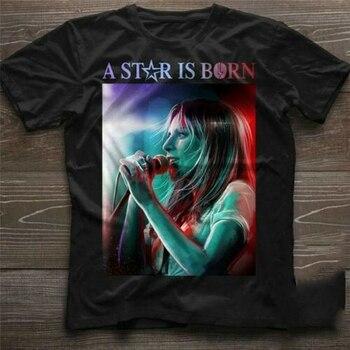 Lady Gaga Ally Is Singing A Star Is Born-Camiseta de algodón negra...