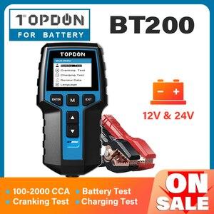 Image 1 - TOPDON BT200 12V Tester per batteria per auto analizzatore di Tester per batteria diagnostica automobilistica digitale strumento per Scanner di ricarica a gomito per veicoli