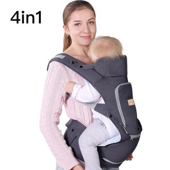 Infant Baby Wrap Carrier with Stool - All Positions Baby Carrier, Baby Hip Seat Ergonomic Carrier