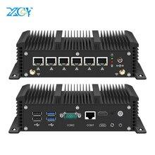 Xcy بدون مروحة جهاز كمبيوتر صغير إنتل كور i3 7100U سيليرون 6 LAN 211at جيجابت إيثرنت 2 * Usb 3.0 HDMI RS232 جدار الحماية راوتر PFsense Minipc