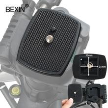 BEXIN Universele statief monopod Driedimensionale Plastic Adapter mount Camera Statief Hoofd Quick Release Plaat Statief Platform
