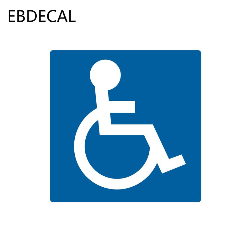 EBdecal  Handicap Parking Sign Disabled Symbol For Auto Car/Bumper/Window/Wall Decal Sticker Decals DIY Decor CT5865