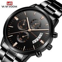 Watch Men business Clock Stianless Steel Top Brand Luxury Rolexable Waterproof Casual Quartz Wristwatches Relogio Masculino