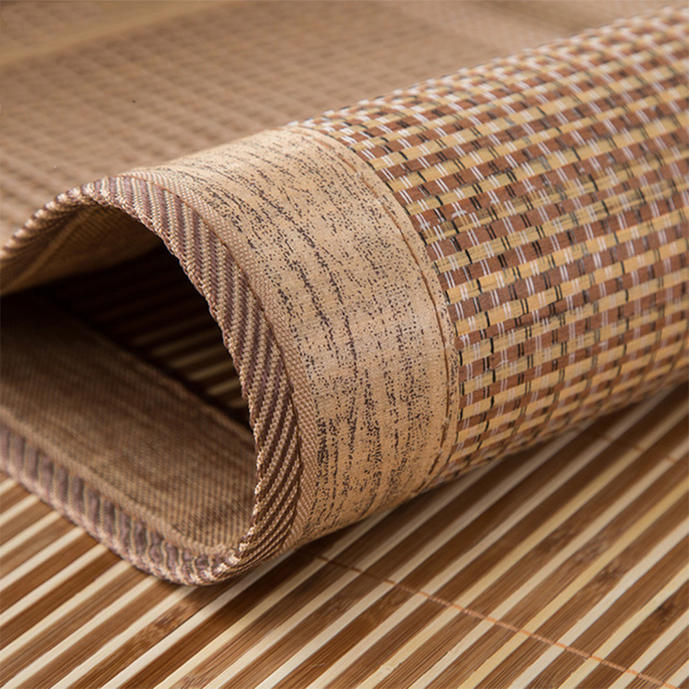 4 Sizes Natural Bamboo Mat Summer Bamboo Mat Summer Cool Bed Cover for Student Dormitory  0.9/1.2/1.5/1.8 bamboo Mat
