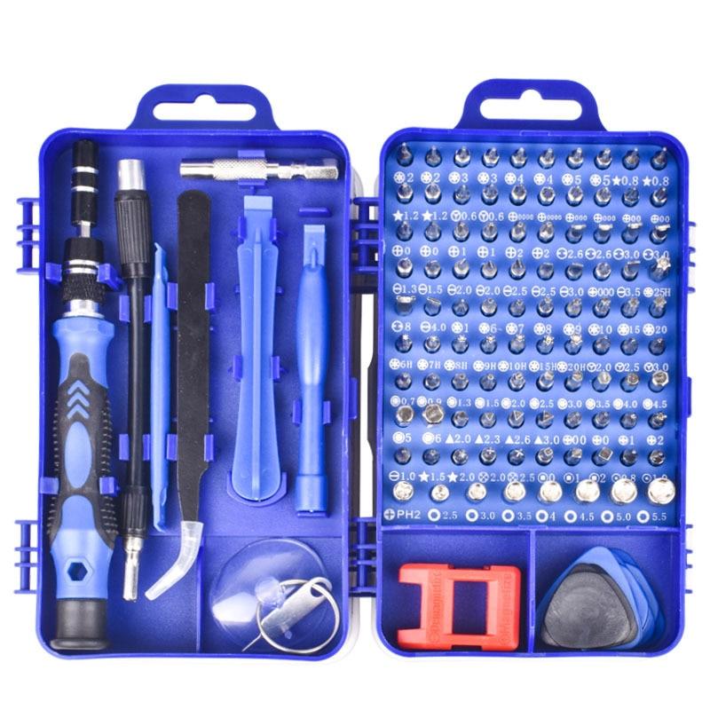 home improvement : 115 in 1 screwdriver set screwdriver bit set multi-function precision mobile phone repair equipment manual tool Torx hexagon