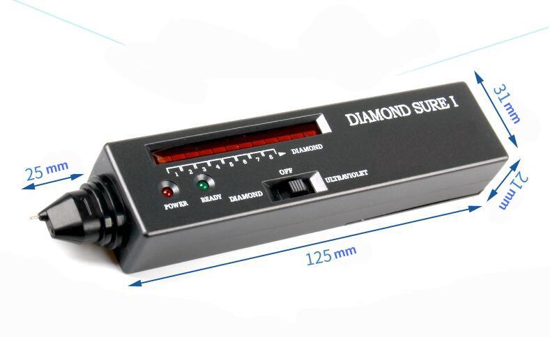 Diament Tester z UV światło ultrafioletowe, diament selektor II, Moissanite Tester jednym dotknięciem detektor biżuteria narzędzia