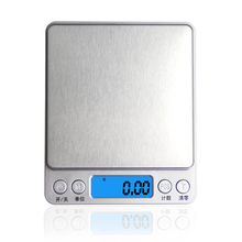 High Precision Electronic Kitchen Scales Digital Food Scale Stainless Steel Weight Scale LCD Measuring Tools Libra Chargeable laboratory balance scale 50g 0 001g high precision jewelry diamond gem lcd digital electronic scale counting function portable