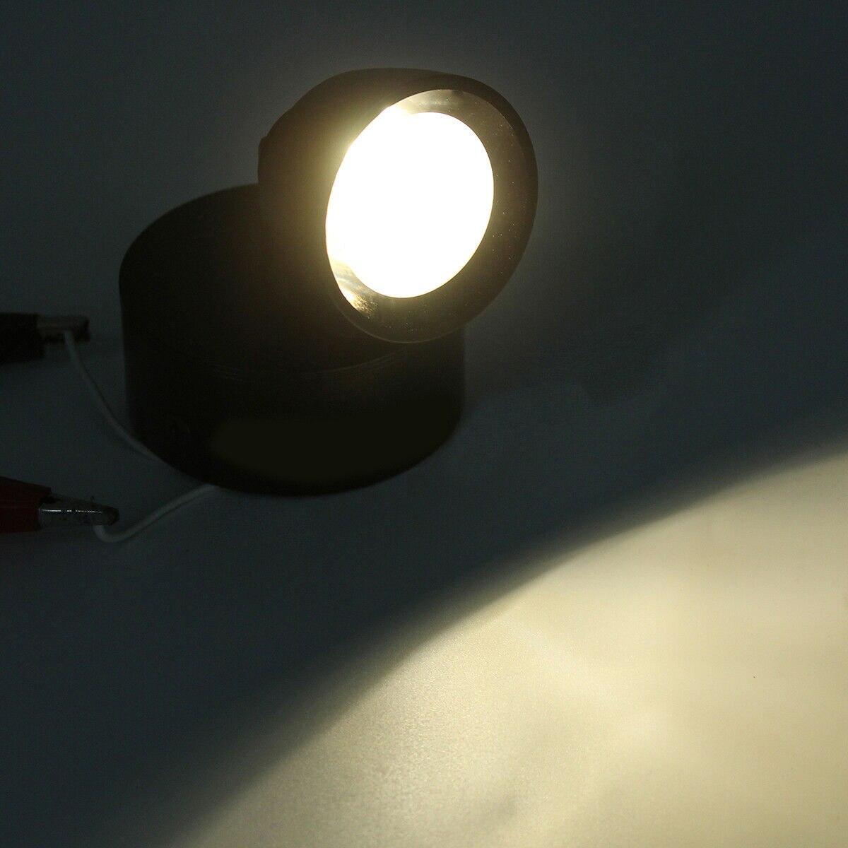 3000-3200K автомобильный Военный белый светильник для чтения лодок, караванов, автомобилей, мотоциклов 3 Вт 12-24 В точечная настенная прикроватная лампа