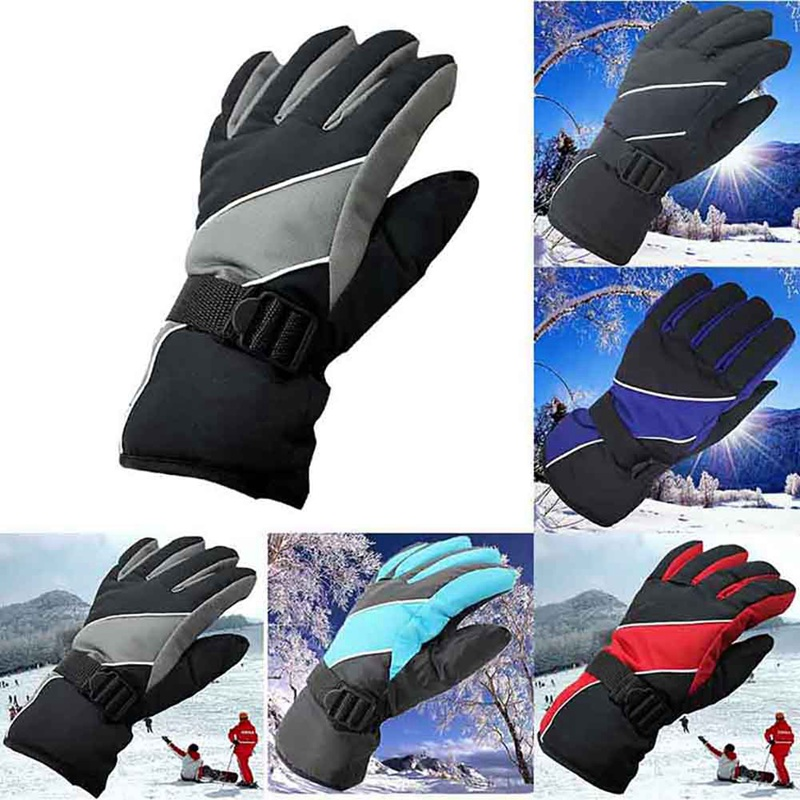 Antiskid Wear Resistant Riding Ski Gloves Mountain Skiing Snowmobile Waterproof Snow Motorcycle Cycling Windproof Gloves
