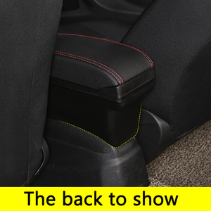 Image 5 - for Peugeot 2008 armrest box universal car center console caja  modification accessories double raised with USB No assembly