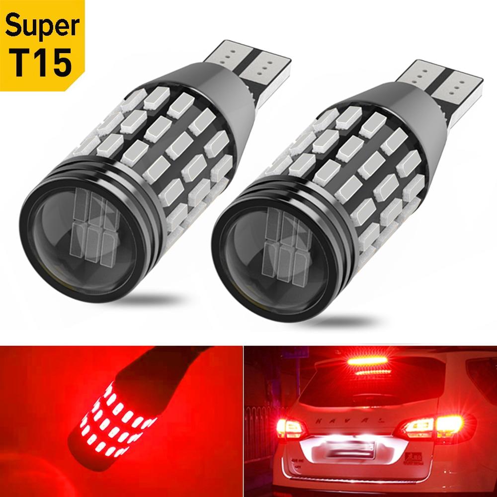 2x T16 W16W T15 Canbus светильник заднего хода для VW Golf 4 5 6 Passat B5 B6 Audi A3 A4 A6 Ford Focus 2 3 1 MK2 Fiesta BMW E46