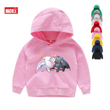 New How To Train Your Dragon Cartoon White Hoodies for Boys and Girls Toothless Sweatshirts 2019 Winter Top