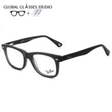 Acetate Glasses Men Women Vintage Eyeglasses Frame for Myopia Optical Prescription Brand Male RM5248 C1/C4/C7(China)