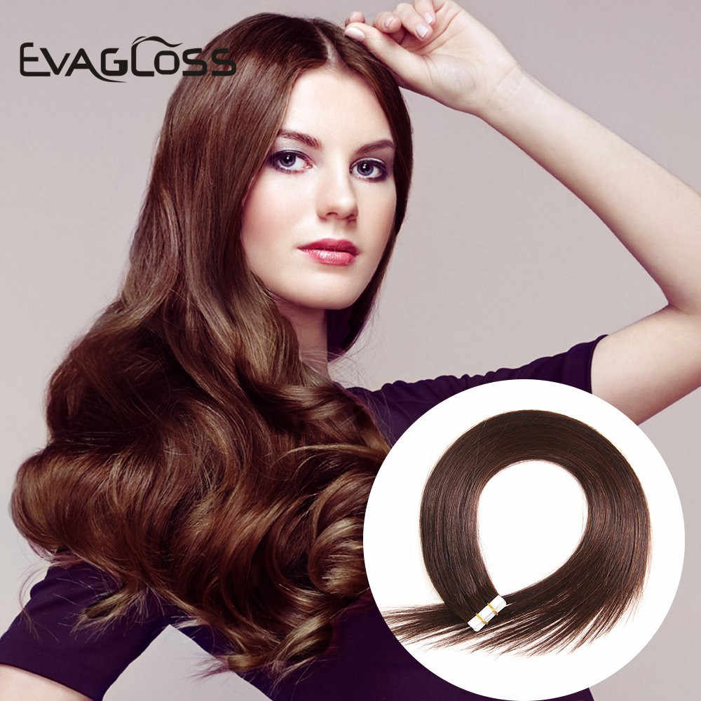 Evagloss Tape In Human Hair Extensions 20 Stuks Skin Weft Machine Remy Adhesive Dubbelzijdig Tape In Hair Extensions
