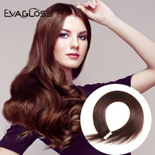 Skin-Weft-Machine Hair-Extensions Tape-In EVAGLOSS 20pcs Remy-Adhesive Double-Sided