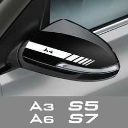 2PCS Car Rearview Mirror Stickers For Audi A3 8P 8V A4 B8 A6 S1 S2 S3 S4 S5 S6 S7 S8 SQ5 SQ7 Auto Accessories Vinyl Film Decals