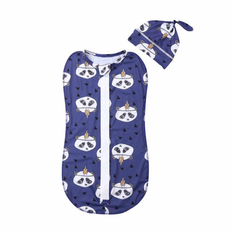 2019 חמוד יילוד תינוק כותנה רוכסן החתלה שמיכה מודפסת לעטוף 0-6M