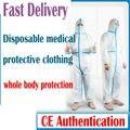 Professionelle Medizinische Anzug schutz virus anzug wasserdichte schutz kleidung kleiden mit CE FDA zertifizierung-in Sicherheitskleidung aus Sicherheit und Schutz bei
