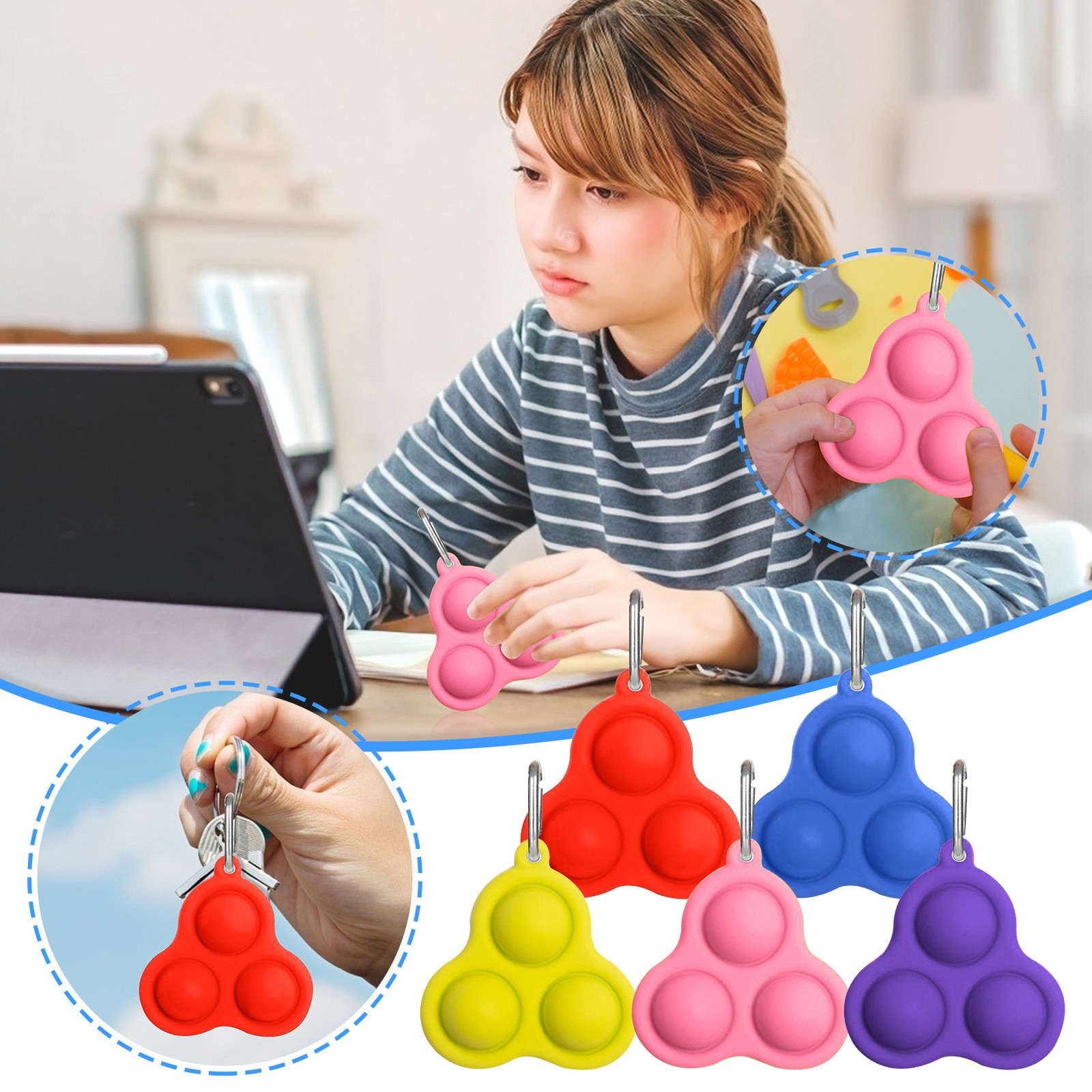 Fidget-Toys Decompression Toy Pressure-Reliever-Board Popit Adult Simple Dimple Children img3