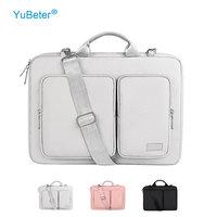 YuBeter männer Laptop Tasche 15 6 zoll für MacBook Pro 13 Fall 14 15,4 Notebook Hülse frauen Aktentasche schulter Tasche Große Kapazität