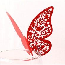 10 шт бабочка полые чашки приглашения на свадьбу лазерный сиденье вставить карту декоративная настенная наклейка карты имя, дата карточный стол вечерние поставки