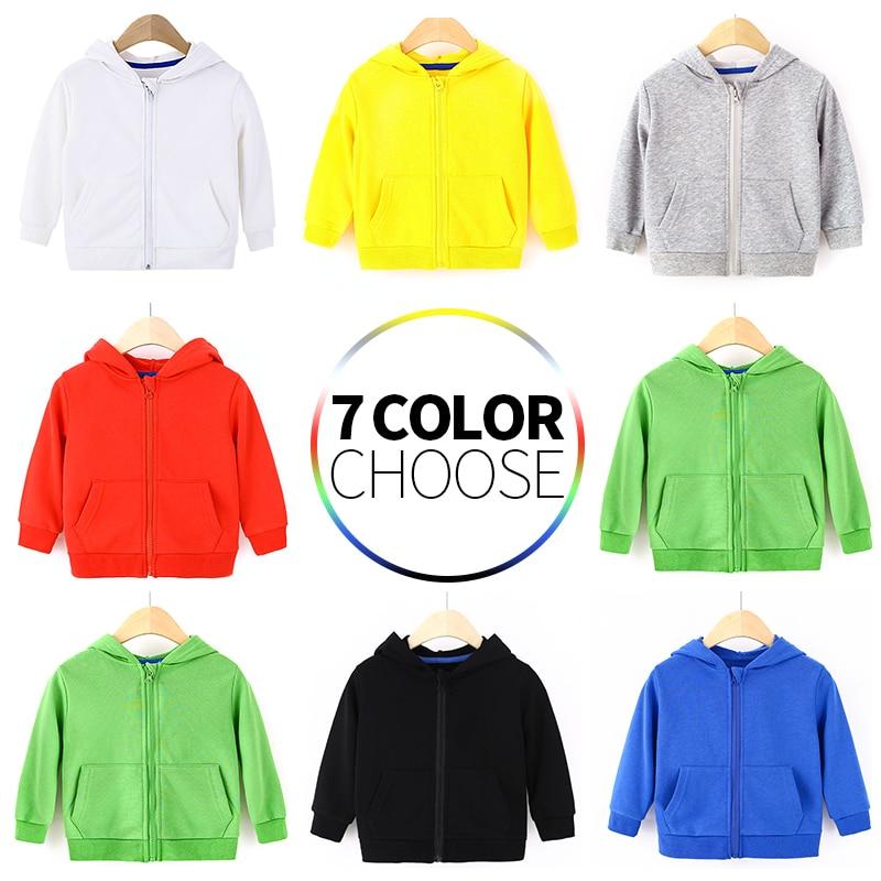 Kids Hoodies Boys Girls Children Toddler Zipper Tops Spring Autumn Baby Outwear Clothes Sweatshirt Jacket Clothing 2-8 Years