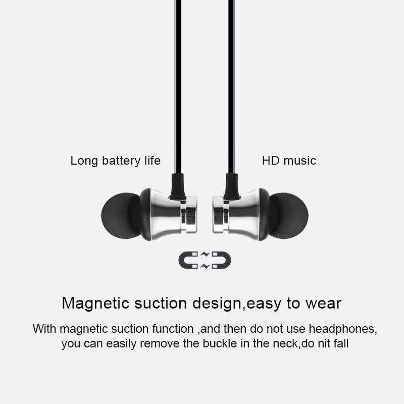 Image 3 - Magnetic Bluetooth Wireless Stereo Earphone Sport Headset For iPhone X 7 8 Samsung S8 Xiaomi Huawei Waterproof Earbuds With Mic-in Phone Earphones & Headphones from Consumer Electronics