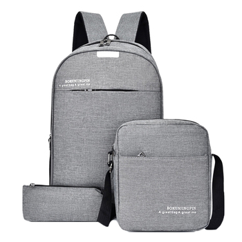 Litthing 3pcs/Set Laptop Backpack Women Business Mens Backpacks Travel Shoulder Bag Casual Student School For Teenager 2020