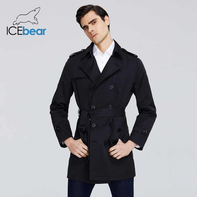 ICEbear 2020 Neue männer graben mantel hohe-qualität männer lange revers windjacken männer der marke kleidung MWF20709D