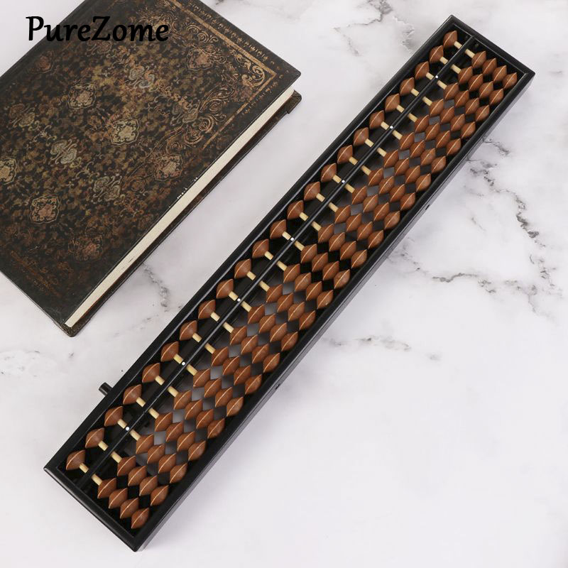 Portable Chinese 23 Digits Column Abacus Arithmetic Soroban Calculating Counting Math Learning Tool For Children