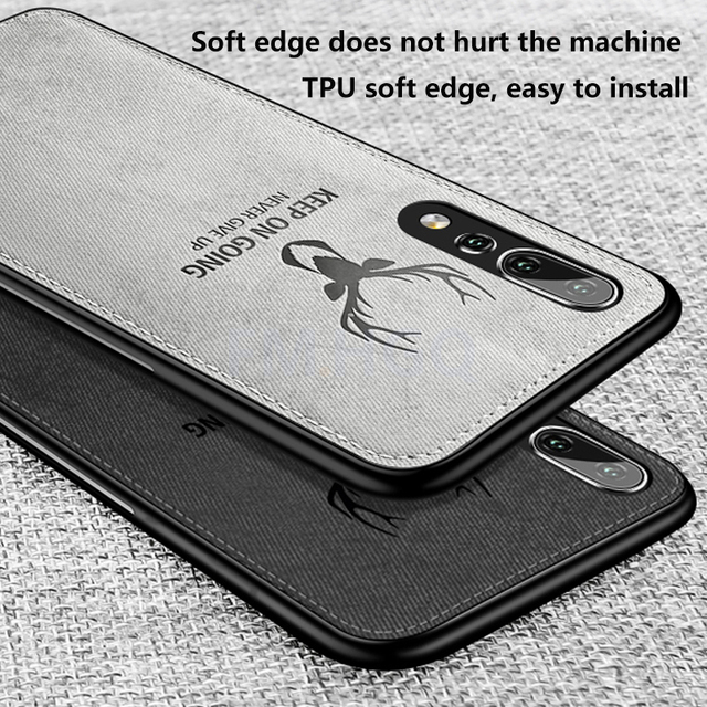 Hot Cloth Texture Deer 3D Soft TPU Magnetic Car Case For Huawei P20 Pro Built-in Magnet Plate Case For P30 P40 Pro Lite Cover 4