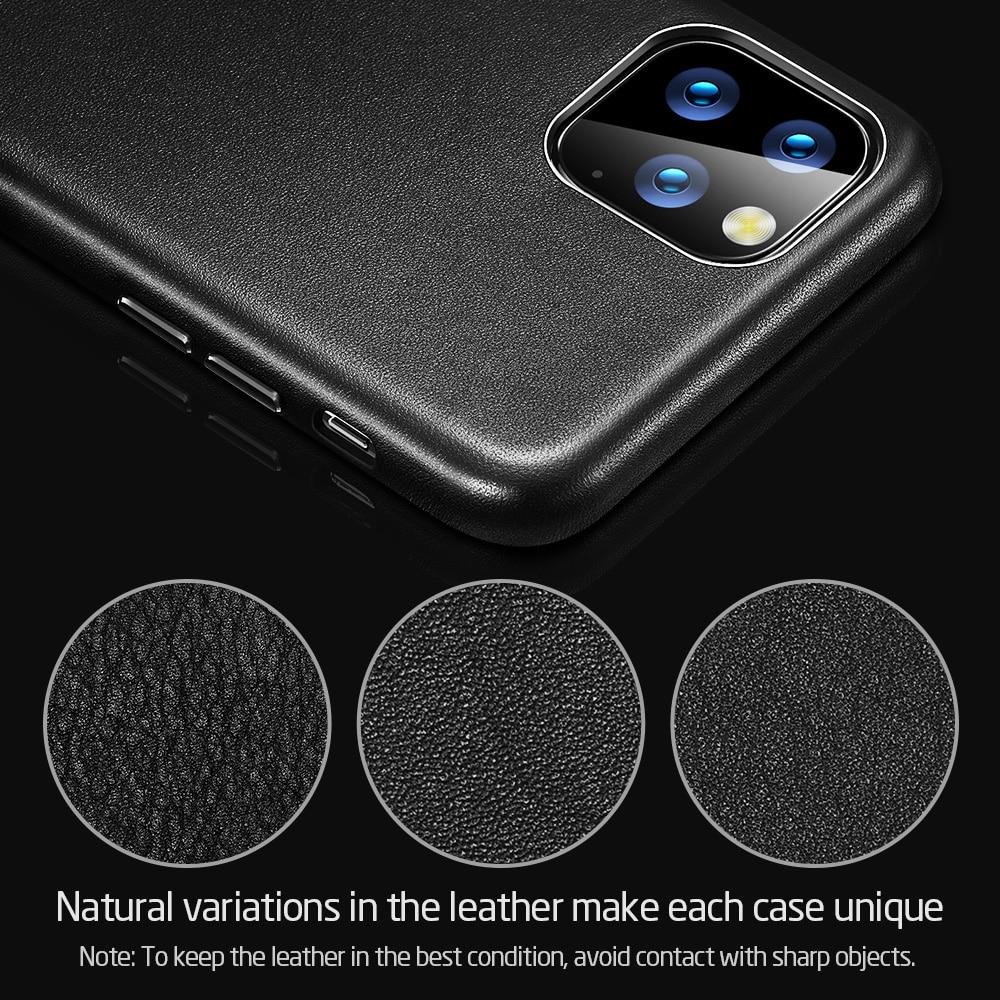 H47620e8f1b8d4b69acd568cc9611809eC ESR Case for iPhone 11 Pro Max Leather Case Cover Brand Black Green Genuine Leather Protective Cover for iPhone 11 2019 11pro