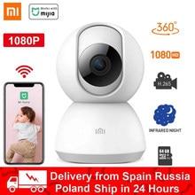 Xiaomi câmera inteligente webcam sem fio 1080p hd wifi visão noturna 360 ângulo de vídeo ip cam monitor segurança do bebê trabalho para mi casa app