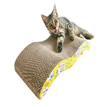 Cat-Toy Claw-Plate Scratcher Cardboard Corrugated Recyclable Board-Grinding Pet-Cat S-Shape