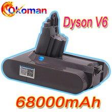 68000mAh 21.6V Bateria Li-ion para Dyson 12.8Ah V6 DC58 DC59 DC61 DC62 DC74 SV09 SV07 SV03 965874-02 Bateria Aspirador de pó