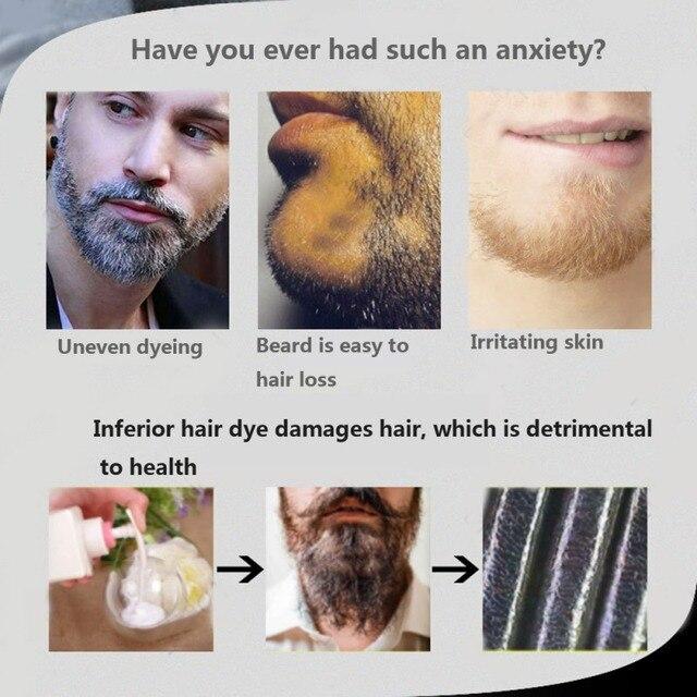 5pcs Beard Blackening Shampoo Natural Without Stimulation Dyed Beard Shampoo Beard Care Q1 4