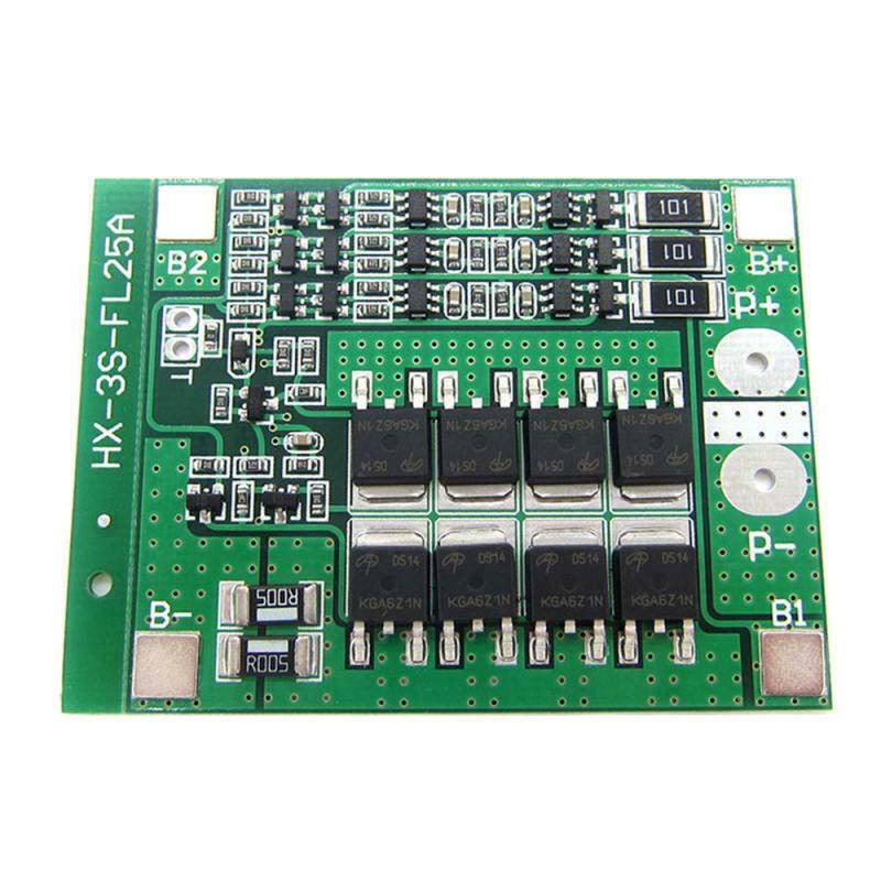 BMS 3S 12V 25A 18650 Lithium Battery Charge Protection Board 18650 Battery Balancer Equalizer Cell For Electric Tools