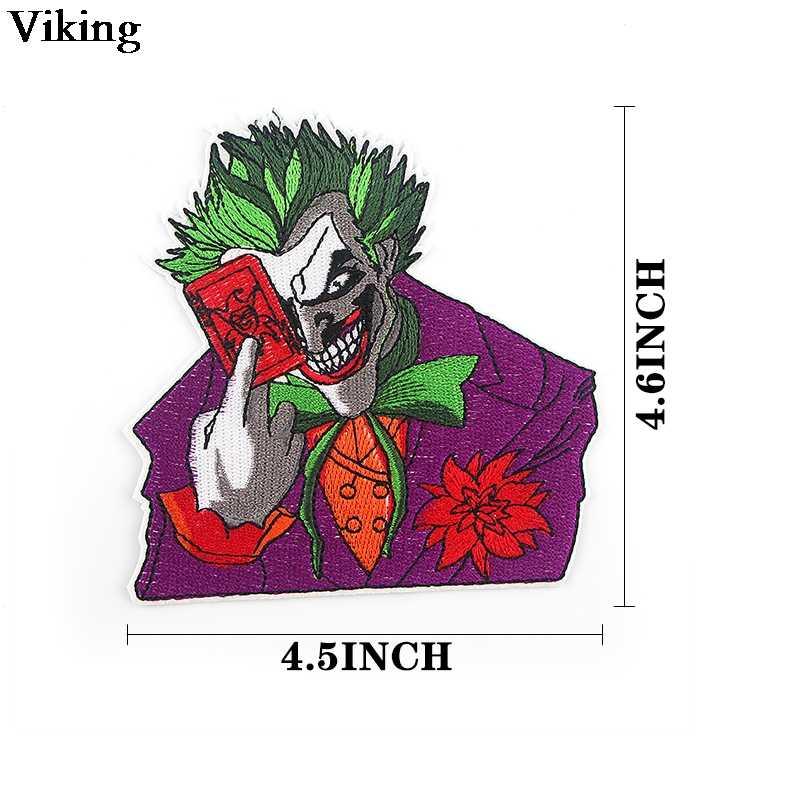 Horror Joker Patch di Ferro Sulla Zona Del Ricamo Movie Figura Cucito Applique Toppe E Stemmi Freddo Abbigliamento Accessori Fai Da Te di Patch G0693