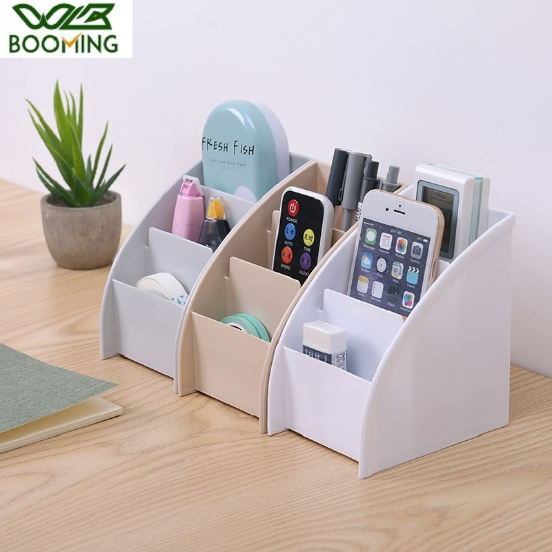 WBBOOMING Desktop Organizer Plastic Storage Box Desktop Jewelry Boxes Pen Holder Remote Control Container Organizer For Desktop